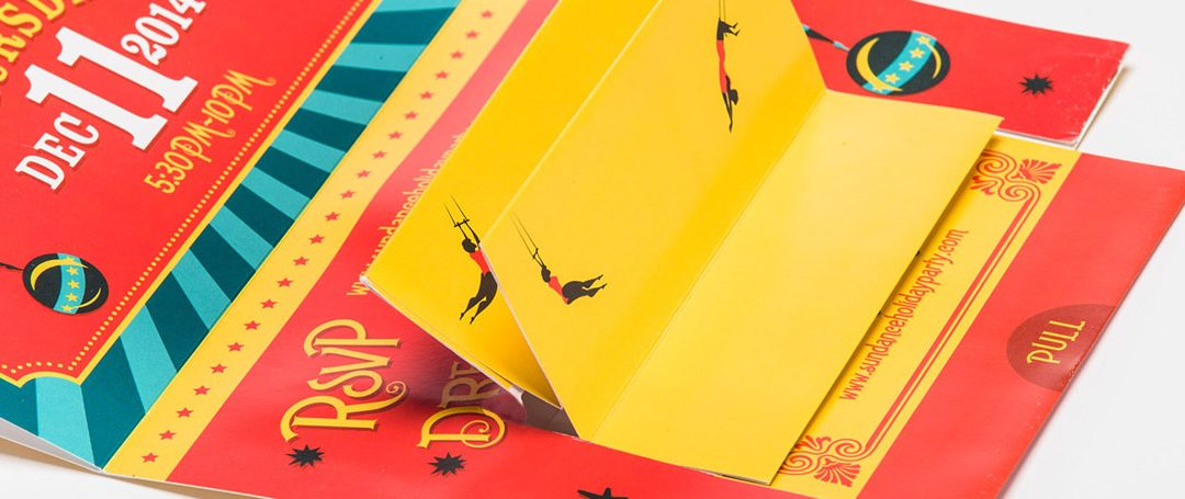 Circus-Themed Event Invitation with Flipper Animation