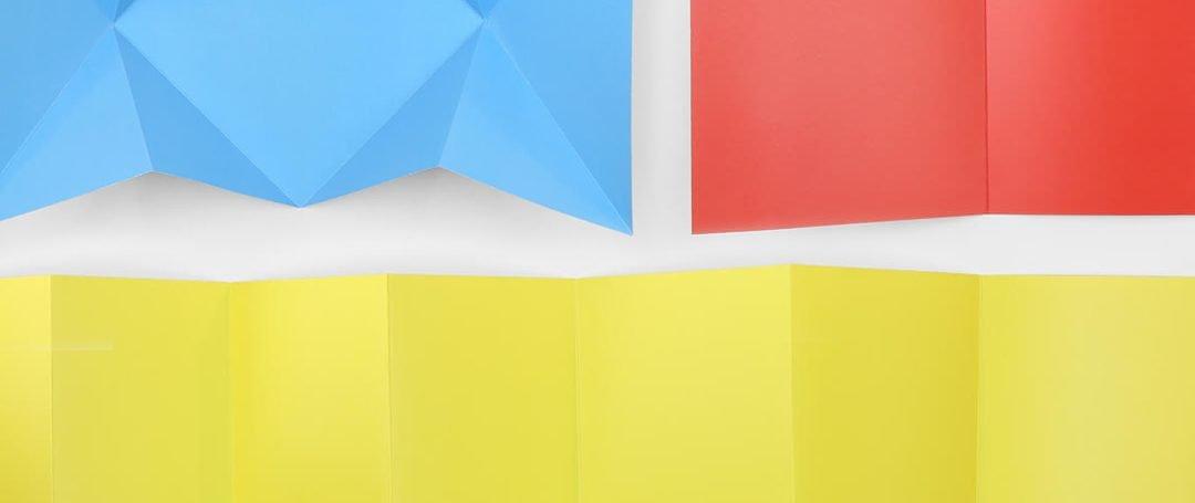 When should you score a folded brochure?